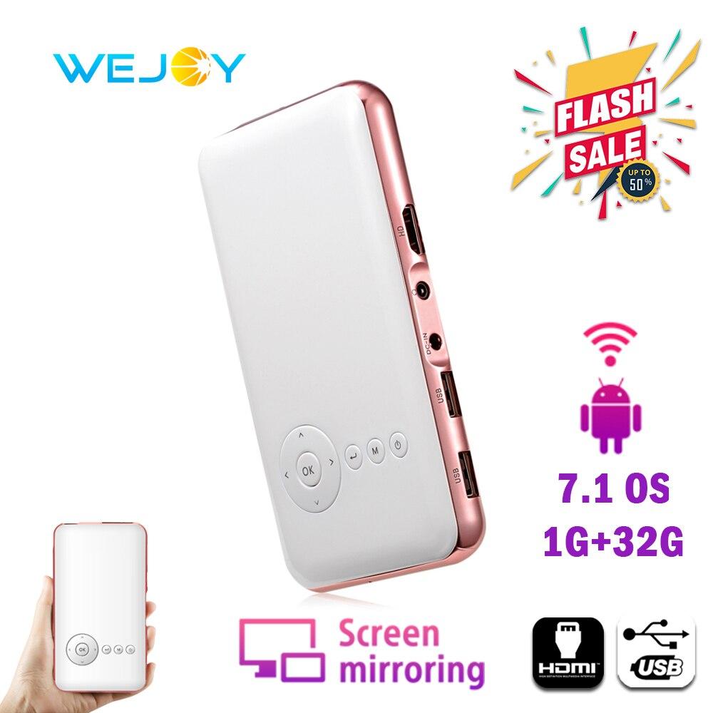 Wejoy Mini projecteur DL-S6 8/32G Portable téléphone Portable projecteur mini tv Portable bolsi FHD poche Smartphone projecteur DLP Android