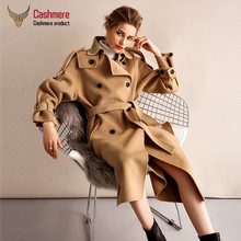 Women #8217 s Coat Double-Sided Cashmere Coat Women #8217 s Woolen Coat Women Winter Style Was Thin Thick Coat Women Casual Jacket cheap DUTRIEUX CN(Origin) long FSZ-190146 Ages 18-35 Years Old Turn-down Collar Double Breasted Regular Full Slim Wool Blends