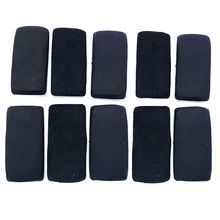 10 Pack Black Magnetic Whiteboard Dry Erasers Chalkboard Cleaner Marker Wiper for Home Classroom Office School Supply Stationery 24pcs blue magnetic whiteboard dry eraser chalkboard cleansers wiper for classroom office school supplies office accessories