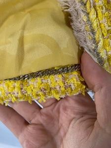 Image 5 - CH009 Neue frühjahr stil. Zitrone gelb mantel. Stricken mantel. Ausgekleidet mit seide 100%