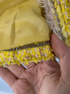 Image 5 - CH009 New spring style. Lemon yellow coat. Knit coat.Lined with silk 100%