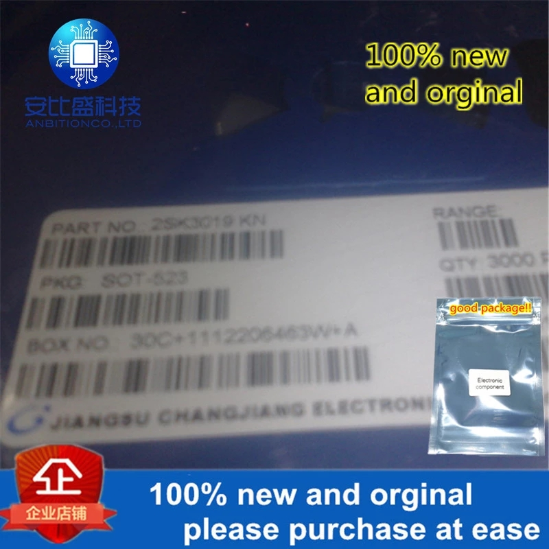 50pcs 100% New And Orginal2SK3019 Silk-screen KN SOT523 In Stock