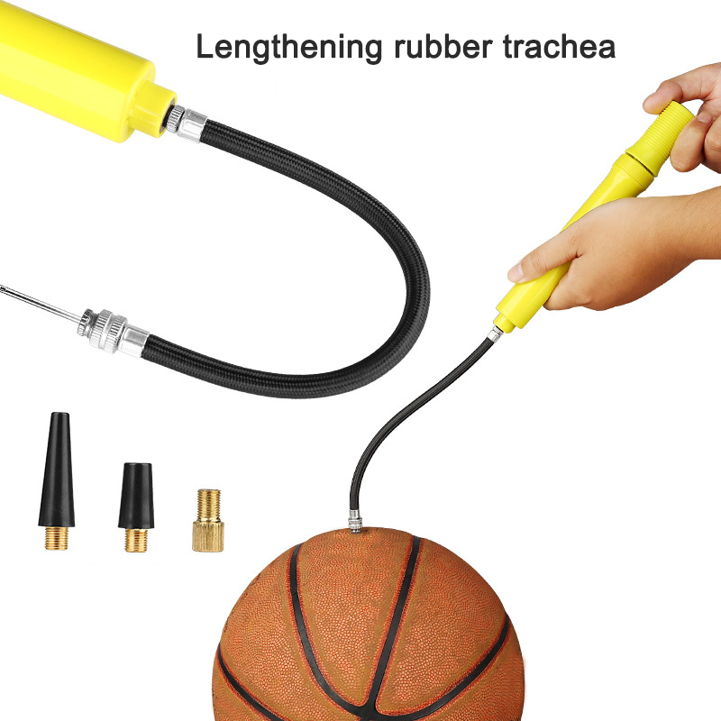 Sports Ball Inflator With Needle Dual Direction Hand Held Portable Basketball Football Air Pump ALS88