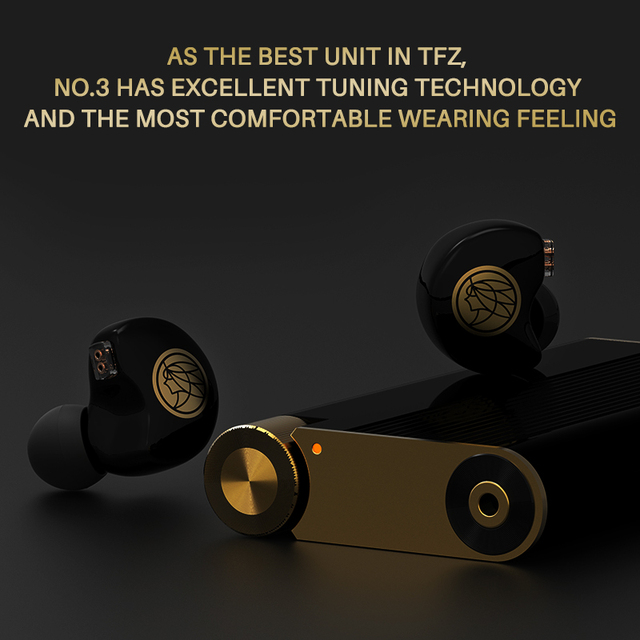 TFZ No.3 Third Generation Unit In-Ear Earphone Dynamic Driver Transparent Sport HiFi Headphones Detachable 0.78 mm 2pin Headset