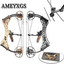 1Pcs High Strength Metal Alloy Compound Bow 26inch 40-70lbs Adjustable Pulley For Outdoor Hunting Shooting Training