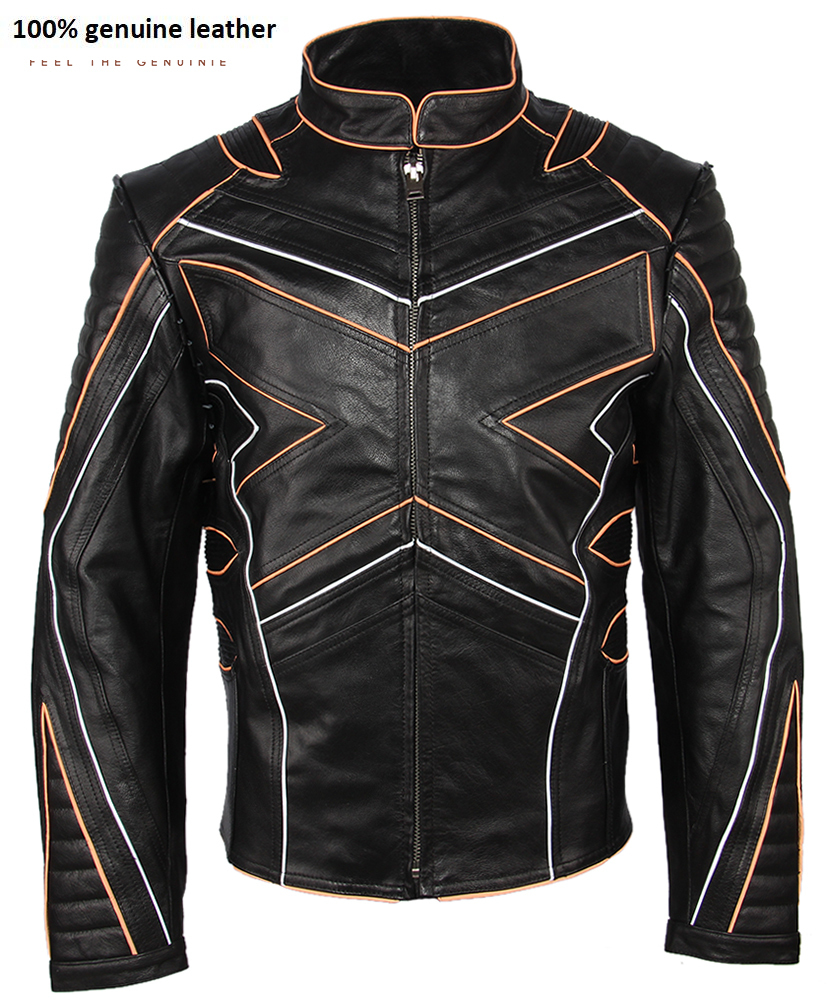 2020 Fashion Super Quality Buffalo Skin Motorcycle Jacket Protectors Available Men Biker Jacket Genuine Leather Coat Winter M222