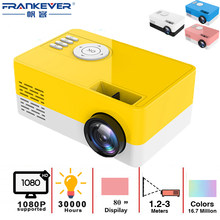 FrankEver LED Mini Projector 320x240 Pixels Supports 1080P USB Audio Portable Mini Home Media Player Video Beamer