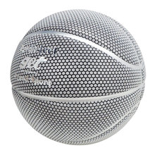Reflective Basketball Ball Official Size 7 Honeycomb Silver PU Boyfriend Gift Playing Games Training Practice Outdoor Indoor