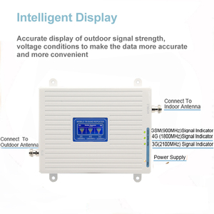 Image 2 - Mobile Amplifier tri band repeater 900 1800 2100 GSM repeater DCS WCDMA 2G 3G 4G repeater LTE cellular Signal Booster