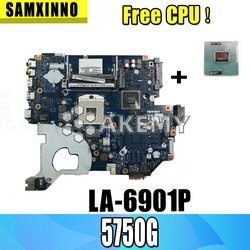Grátis CPU Laptop motherboard para For Acer Aspire 5750 5750G 5755 5755G PC Mainboard P5WE0 LA-6901P tesed DDR3