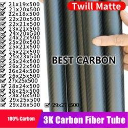 Бесплатная доставка, OD21, 22, 23, 24, 25, 26, 27, 28, 29 мм, с высококачественной матовой саржевой поверхностью длиной 500 мм, тканевая намотка из углеродно...