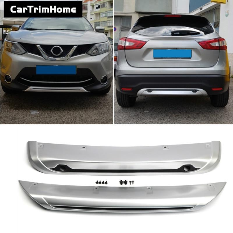 2pcs Chrome Front Bumper Strips Cover Trim fit for Nissan Qashqai J11 2014-2016