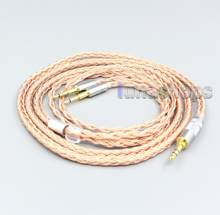 LN006759 2.5mm 4.4mm 3.5mm XLR 16 Core 99% 7N OCC Earphone Cable For Oppo PM-1 PM-2 Planar Magnetic Headphone(China)