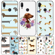 Dachshund dog Black Cover Phone Case for Xiaomi Redmi Note 8