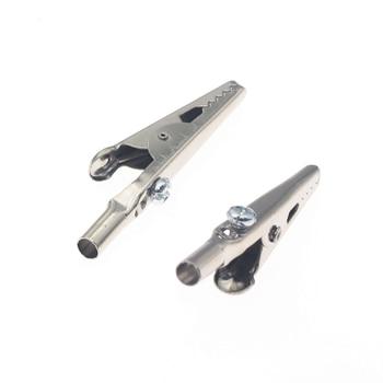 50 шт/100 шт одной ручкой Аллигатор клип никелирование 50 мм Железный зажим для тестирования Электрический зонд-метр крокодил зажим