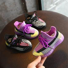 DIMI 2020 Spring New Baby Shoes Knitted Breathable Toddler B