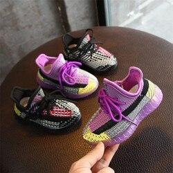 DIMI 2020 wiosna nowe buty dziecięce dzianiny oddychające maluch chłopiec buty dziewczęce miękkie wygodne buty dziecięce marki Sneaker|Pierwsze kroki|Matka i dzieci -