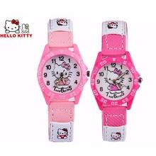 Hello Kitty Children Watch Cute Cartoon pattern Girls Kids
