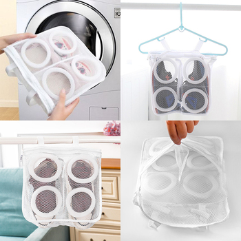 Laundry Shoes bag Protective Underwear Bra Mesh Wash Organizer storage bag Home Washing Dry Shoe Zipper Laundry Bags 3 Colors image