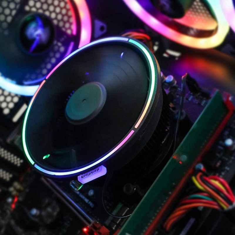 Aigo darkflash chłodnica procesora RGB wentylator 3PIN Sync procesor komputera chłodzenie radiator obudowa PC chłodnica procesora dla AMD LGA 775/1151/1155/AM3/AM4