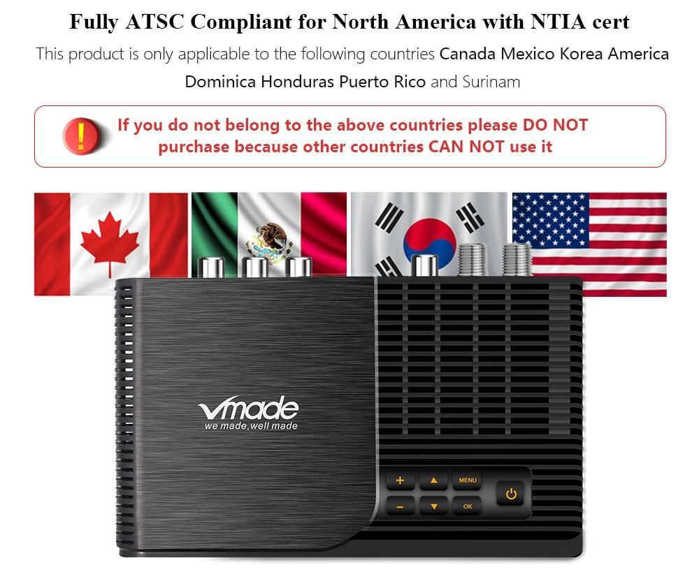 ATSC T terrestrial digital HD TV receiver work at USA Canada Mexico Korea tuner ATSC-T atsc t standard 16