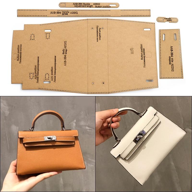 Handmade Leather Ladies Shoulder Bag Messenger Bag Handbag Sewing Pattern Hard Kraft Paper Stencil Template 19cm*12cm*5cm