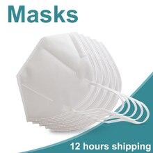 10/20 sztuk maski 5 warstwy włókniny maska ochronna Respirator tkaniny Anti cząstek stałych do ochrony przed zanieczyszczeniem kurzem bezpieczeństwa maski