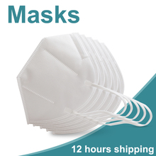 10/20pcs Masks 5 Layers Non Woven Face Mask Protective Respirator Fabrics Anti particulate Anti Pollution Dust Safety Masks
