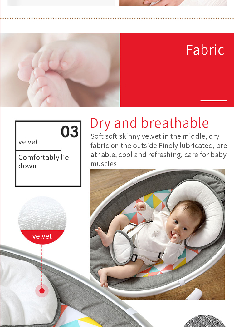 Baby rocking chair newborn shaker baby electric cradleartifact with sleeping comfort