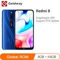 Новая глобальная прошивка Xiaomi Redmi 8, 4 Гб RAM, 64 ГБ ROM, мобильный телефон Snapdragon 439 Octa Core 12MP двойная камера 6,22