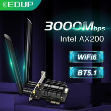 Wi-Fi-адаптер EDUP, 2974 Мбит/с, 5,1/5 ГГц, 802.11AX