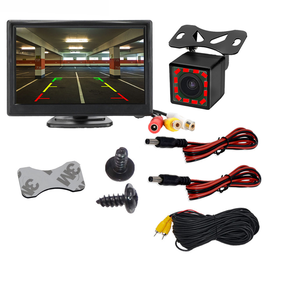 Car-Monitor Parking Reverse-Rear-View-Camera Tft Lcd Video-Input Digital 16:9-Screen