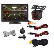 5 ou 4.3 Pouces Moniteur de Voiture LCD TFT ou 5 AHD Numérique 16:9 Écran Entrée Vidéo 2 Voies ou avec Caméra de Recul Arrière pour le Stationnement