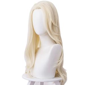 Image 3 - למבוגרים נסיכת קוספליי פאות 65cm ישר עמיד בחום סינטטי שיער מפלגה פאות
