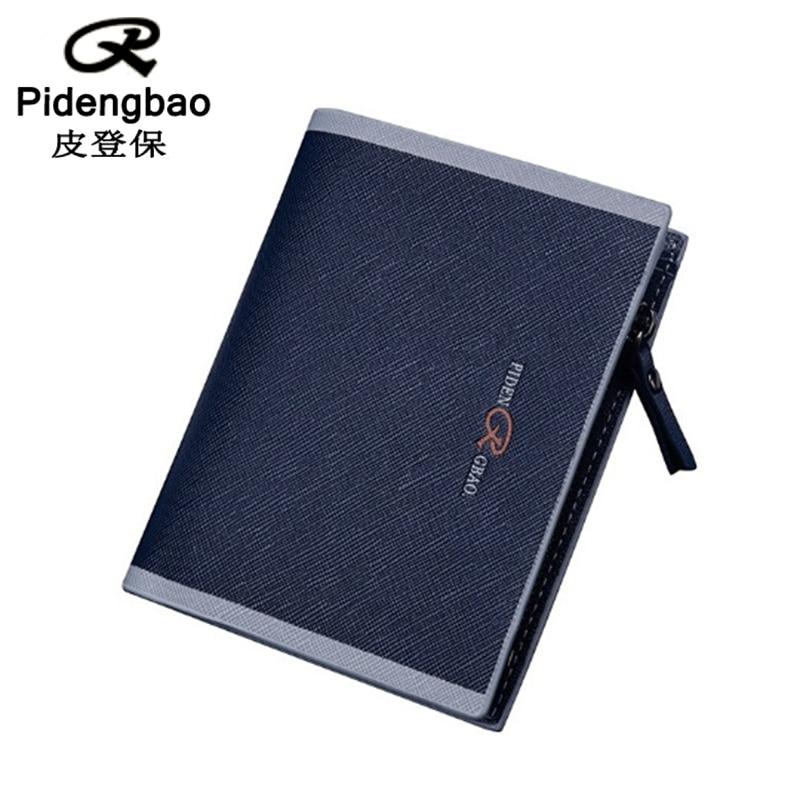 PIDENGBAO Wallet Purse Carteira Wallets Carteras PU Leather Famous Brand Monederos Purses Designer Card Holder Short Billeteras