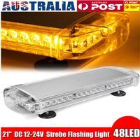 21 48 LED Strobe Light Bar Fireman Police Flashing Emergency Warning Lights Double Side Car Truck Lightbar Strobe Lamp Amber