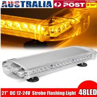21 48 LED Strobe Light Bar Fireman Police Flashing Emergency Warning Lights Double Side Car Truck Lightbar Strobe Lamp Amber