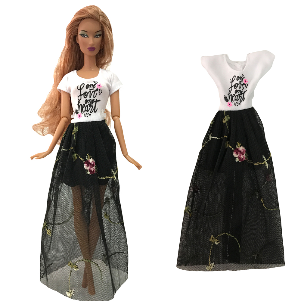 NK  Newest Doll Dress Beautiful  Handmade Clothes  Fashion Design Outfit  For Barbie Doll Accessories  Toy Girls' Gift 275B 10X
