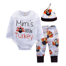 цена на Winter Autumn Newborn Baby Clothes Set Infant Cotton Boys Girl Clothing Hats+Rompers+Pants 3piece/Set Baby Christmas Outfits
