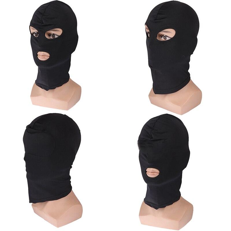 Забавные игры черная маска на голову сексуальная маска на голову раб открытый рот SM бондаж секс курчавые секс-игрушки для женщин мужчин пар