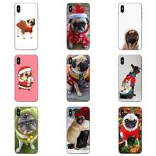 Holiday Pugs In Sweaters Ultra Thin Cartoon Pattern Tou Phone Case For Apple iPhone X XS Max XR 4 4S 5 5S SE 6 6S 7 8 Plus(China)