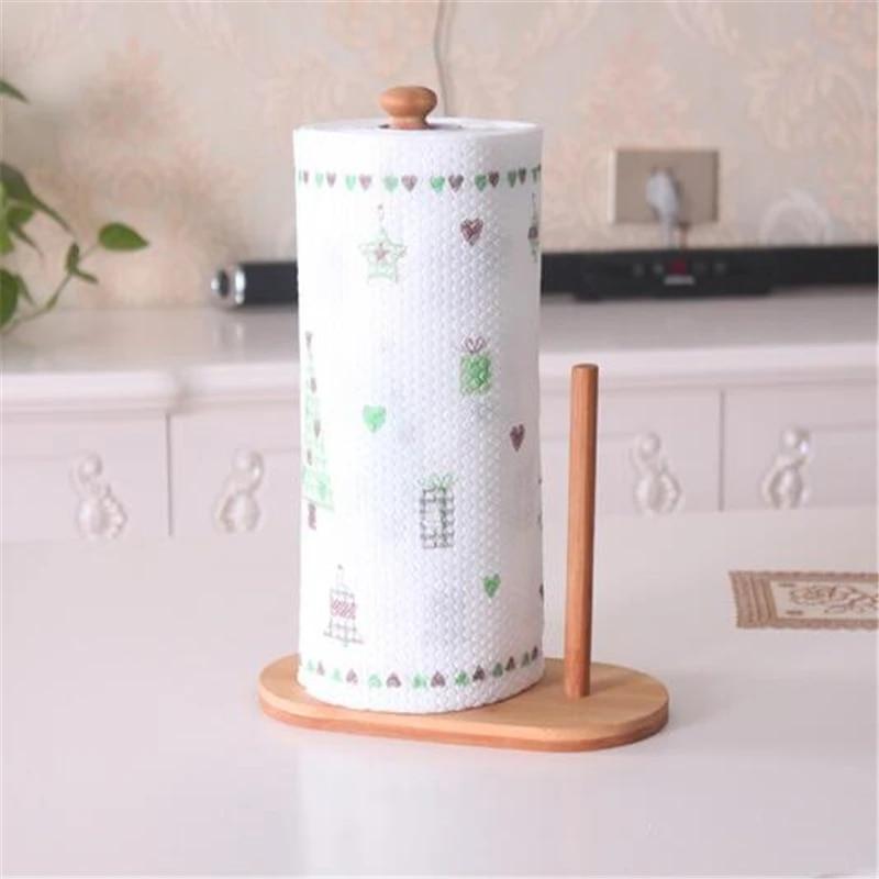 Towel Storage Rack Tissue Hanger Cabinet Hanging Shelf Kitchen Roll Paper Holder