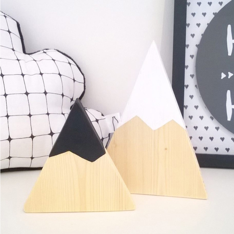 2pcs/set Nordic Style Wall Hanging Decor Baby Kids Bedroom Hanging Snow Mountain Shape Ornaments Decorations JPDZS1028