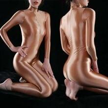 Bodysuit Clubwear Shein Open-Crotch Zipper Ladies Super Metelam Romper