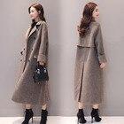 Plaid Coat Women Lon...