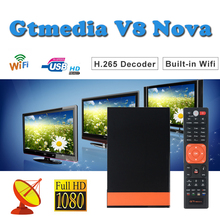 Satellite finder Gtmedia V8 Nova DVB-S2 EPG Tv-Receiver  Built-in WIFI support cccam cline spain satellite tv decoder