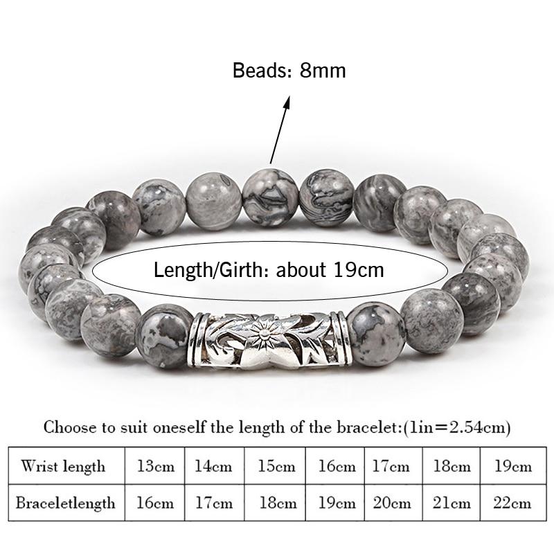Classic Alloy Elastic Strand Bracelets Homme Natural Tiger eye Volcanic lava stone 8mm Beads Bracelet Jewelry Gift for Women Men