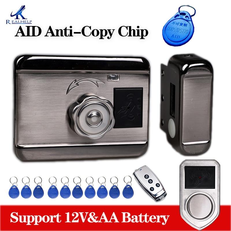 Electric Lock AID Chip Lock Simple Smart Card Locks Wireless Electronic RFID Card Reader Door Locks Keyless Anti-theft Door Lock