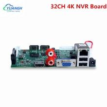 32CH 8MP CCTV 4K NVR Board H.265 Motion Detect XMEye APP ONVIF Face Detection 32 Channel Network Digital Video Recorder
