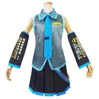 2019 Vocaloid Miku Hatsune Cosplay Costume kit Japanese Mid Dress